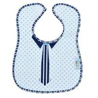 Babador Impermeável Felpudo Coleção Mini Herdeiros - Gravatinha Azul