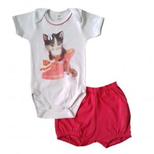 Conjunto Body e Shorts Gatinha Sapato Alto