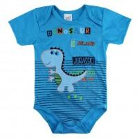 Body Bebê Regata Dinossauro - Azul