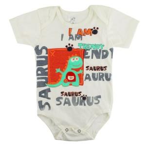 Body Bebê Regata Dinossauro - Creme