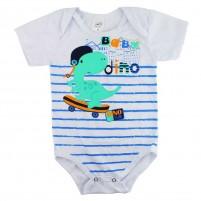 Body Bebê Regata Dinossauro - Branco