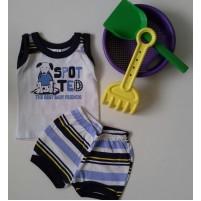 Roupa para Bebê Conjunto Regata e Shorts Spot Ted