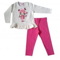 Conjunto Blusa e Legging Infantil Menina e as Borboletas 1 a 3 anos
