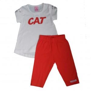 Conjunto Infantil Corsário e Blusa Cat Menina 1 a 3 anos