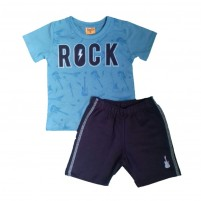 Conjunto Menino Verão Camiseta e Shorts Rock
