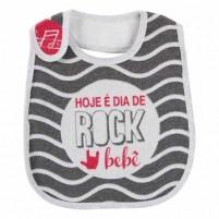 Babador Impermeável Felpudo Unissex Coleção Mini Herdeiros - Rock Bebê