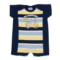 Macacão Bebê Menino Manga Curta verão Criaturas Marinhas