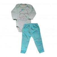 Conjunto Bebê Menino Body e Calça Aqui Dorme 1 Príncipe