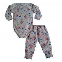 Conjunto Pijama Body e Calça Cachorrinho - Branco